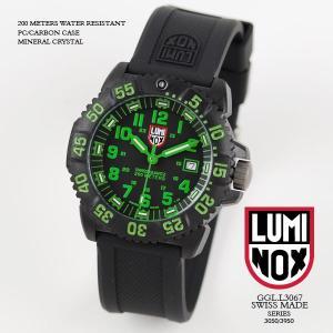 ルミノックス 時計 LUMINOX 腕時計 3067 ネイビーシールズ カラーマークシリーズ ブラック/グリーン文字盤 iget