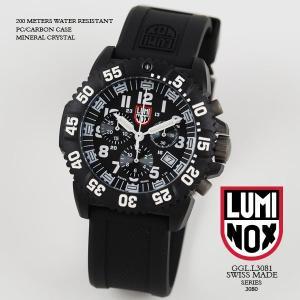 ルミノックス 時計 LUMINOX 腕時計 3081 ネイビーシールズ カラーマーク クロノグラフ ブラック/ホワイト文字盤 iget