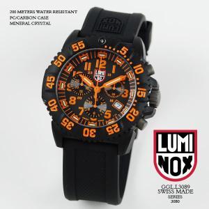 ルミノックス 時計 LUMINOX 腕時計 3089 ネイビーシールズ カラーマーク クロノグラフ ブラック/オレンジ文字盤 iget