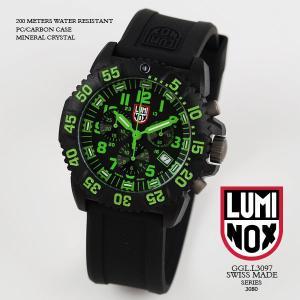 ルミノックス 時計 LUMINOX 腕時計 3097 ネイビーシールズ カラーマーク クロノグラフ ブラック/グリーン文字盤 iget