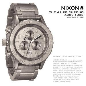 ニクソン 時計 NIXON 腕時計 A037-1033 A0371033 Chrono THE 42-20 オールロウスチール クロノグラフ アナログ文字盤 iget