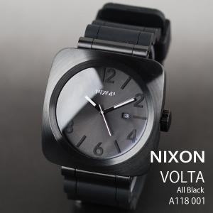 c95da1b08f ニクソン 時計 nixon 時計 NIXON 腕時計 A118-001 A118001 VOLTA PU ヴォルタ オールブラック All ...