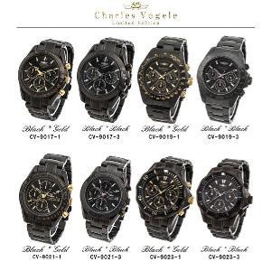シャルルホーゲル 腕時計 Charles Vogele リミテッドエディション Limited Edition CV-9017/CV-9019/CV-9021/CV-9023 クロノグラフ カレンダー|iget