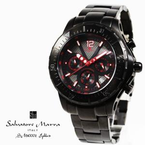 サルバトーレ マーラ 腕時計 Salvatore Marra SM10002 IPBKRD ブラック クロノグラフ 24時間計 日付 回転防止ベゼル タキメーター お取り寄せ iget