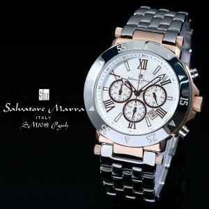 サルバトーレ マーラ 腕時計 SM7019 PGWH ピンクゴールド/ホワイト クロノグラフ カレンダー 24時間計 お取り寄せ iget