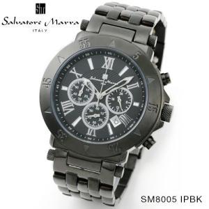 腕時計 メンズ 男性 サルバトーレ マーラ 腕時計 Salvatore Marra 時計 SM8005 IPBK ブラック ステンレス クロノグラフ カレンダー  【お取り寄せ】 iget