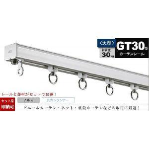 カーテンレール 業務用 大型/GT30 アルミ製/2m ランナーセット|igogochi