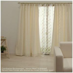 カーテン コットン綿プリントカーテン CH320ユーカリ タックカーテン巾100cm×丈178、巾100cm×丈200cm 1枚 igogochi