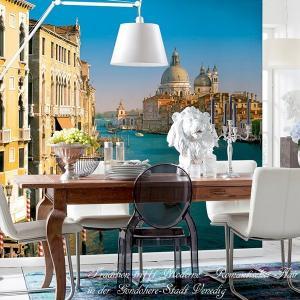 おしゃれな輸入壁紙 クロス イタリア風景写真 ドイツ製/8-919 Venezia ヴェネチア 368cm×254cm 北欧 だまし絵|igogochi