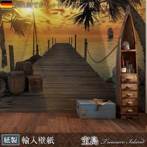 壁紙 おしゃれな輸入壁紙 クロス ドイツ製 Treasure Island 宝島 8-918 風景写真 リゾート|igogochi