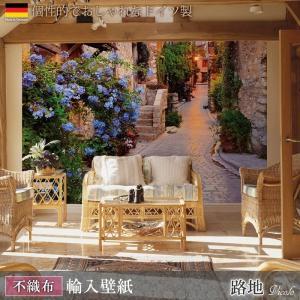 壁紙 おしゃれな輸入壁紙 クロス 不織布 フリース ドイツ製 Vicolo 路地 XXL4-057 小道 風景|igogochi