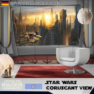 壁紙 おしゃれな輸入壁紙 クロス 紙 ドイツ製 8-483 Star Wars Coruscant View スターウォーズ|igogochi