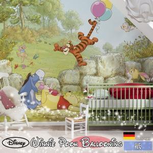 壁紙 おしゃれな輸入壁紙 クロス 紙 ドイツ製 4-411 Winnie Pooh Ballooning くまのプーさん|igogochi