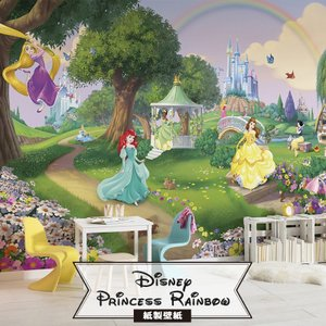 壁紙 おしゃれな輸入壁紙 クロス 紙 ドイツ製 Princess Rainbow 8-449 ディズニー|igogochi
