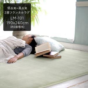 低反発高反発フランネルラグ ラグマット 190cm×240cm ホットカーペット対応 遮音 床暖房 [直送品]|igogochi