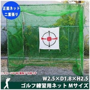 ゴルフ練習用ネット W2.5×D1.8×H2.5 正面ネット二重張り [直送品] igogochi