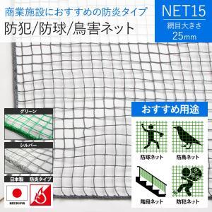 NET15 ゴルフ・鳥害・防犯用ネット 防炎 巾30〜100cm 丈30〜100cm igogochi