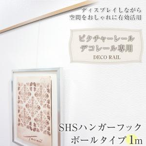 ピクチャーレール デコレール専用 SHSハンガー ボールタイプ 1m インテリアピクチャーレール/収納 壁掛け|igogochi