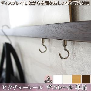 ピクチャーレール ディスプレイ収納 デコレール レール単品/51cm〜100cmまで|igogochi