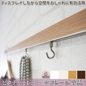 ピクチャーレール ディスプレイ収納 デコレール レール単品/101cm〜200cmまで|igogochi
