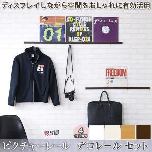 ピクチャーレール ディスプレイ収納デコレール 標準セット/51cm〜100cmまで|igogochi