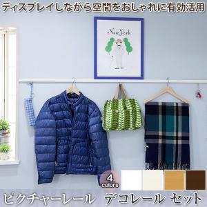 ピクチャーレール ディスプレイ収納 デコレール 標準セット/201cm〜300cmまで|igogochi