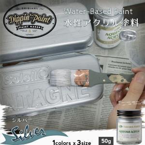 ペンキ 水性塗料 アクリル塗料 シルバー 50g|igogochi