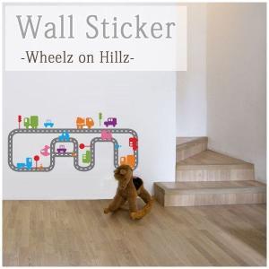 ウォールステッカー ホイールオンヒルズ wd-015 Wheelz on Hillz|igogochi