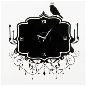ウォールステッカー 壁掛け時計 掛時計 おしゃれ ポップ 北欧 カフェ/109 Black Widow|igogochi