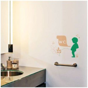 ウォールステッカー ドアプレートに ノックノックシリーズ トイレ wd169 Pissy Boy igogochi