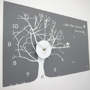 ウォールステッカー 壁掛け時計 掛時計 おしゃれ ポップ /170 Winter Willow 冬|igogochi