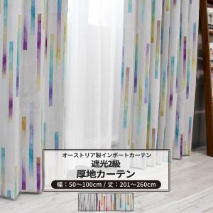 カーテン おしゃれ インポートカーテン サイズオーダー 幅50〜100cm 丈201〜260cm YH986 ノルン[1枚]|igogochi