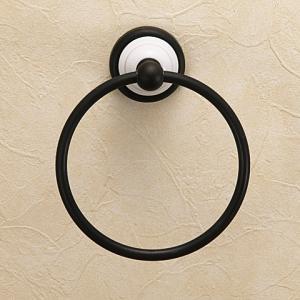 真鍮製ブラック仕上げタオルリング|igokochi