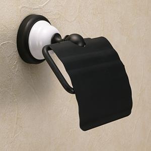 真鍮製ブラック仕上げトイレットペーパーホルダー|igokochi
