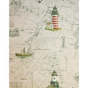 壁紙 海図と灯台 igokochi