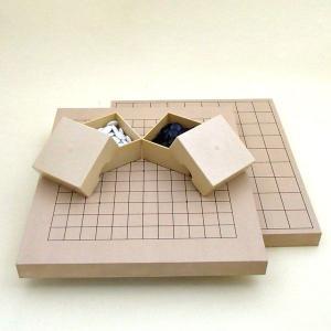 囲碁セット 新桂10号13路碁・将棋両用盤とP碁石とミニ角ケース|igolabo