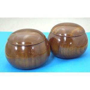手作木製碁笥 楠(くす)超特大 40号|igolabo