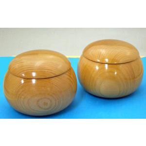 手作木製碁笥 欅(けやき)極上超特大43号