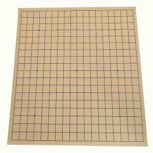 軽便で大会などによく使われる塩ビ碁盤です。色は茶色です。 ※裏面は無地です。 通常サイズの碁石を使用...