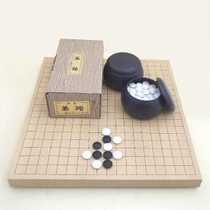 囲碁セット 人気のP碁笥・碁石椿セットと新かや10号卓上接合碁盤|igolabo