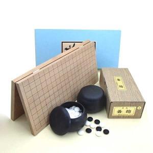 囲碁セット 新桂6号折碁盤とプラスチック碁笥・碁石(6mm)普及セット|igolabo