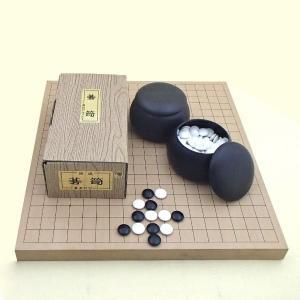 囲碁セット 新桂10号卓上接合碁盤とP碁笥・碁石椿セット |igolabo