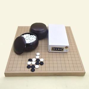 囲碁セット 新桂10号卓上接合碁盤と碁石新生竹とP碁笥銘木大|igolabo