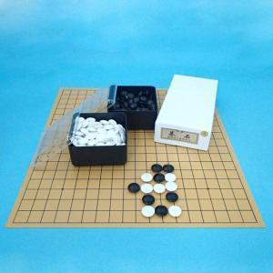 囲碁セット 塩ビの碁盤とプラスチック碁石竹と角ケースのセット(特価)|igolabo