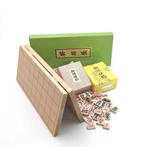 将棋セット 新桂5号折将棋盤と木製特選駒の将棋盤セット