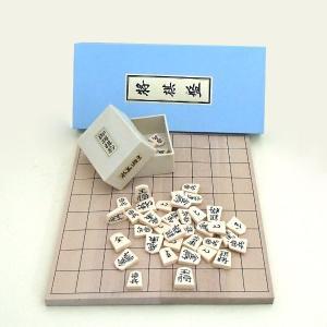 将棋セット 木製新桂6号折将棋盤とP将棋駒水無瀬の将棋セット