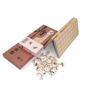木製将棋盤セット 特選将棋セット(新桂4号折将棋盤と優良押し駒)特売