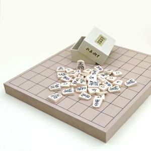 将棋セット 新桂1寸卓上接合将棋盤とP製将棋駒水無瀬の将棋セット