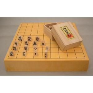 将棋セット ヒバ2寸卓上接合将棋盤松と将棋駒新槙彫の将棋セット