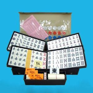 ご家庭で手軽にお楽しみ頂ける麻雀牌です。 ジョイフルマットとセットにすれば 持ち運びも簡単、何処でで...